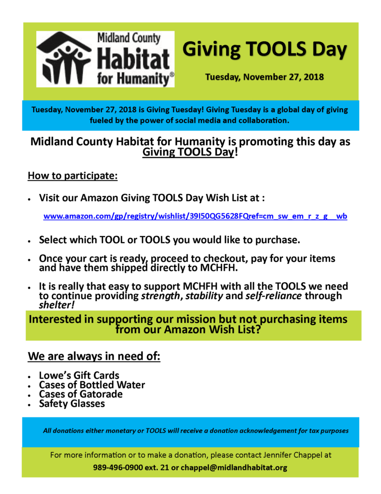 Giving TOOLS Day 2018 Flyer